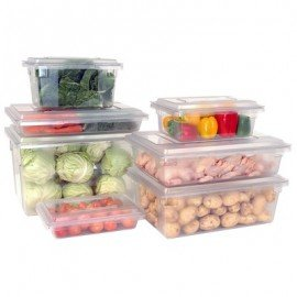 STORAGE BOX LARGE - 660 x 450 x 90mm - CLEAR - 1