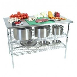 WORK TABLE STAINLESS STEEL (2 TIER) 1300 x 690 x 870mm