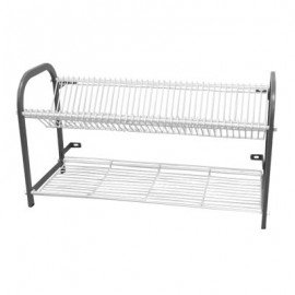 CROCKERY RACK WALL MOUNTED - 2 SHELF - 802mm (38 PLATES) - 1