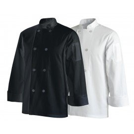 CHEFS UNIFORM JACKET BASIC LONG - BLACK - X - SMALL - 1