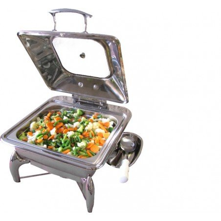 CHAFING DISH INDUCTION - SQUARE WITH GLASS LID - 1