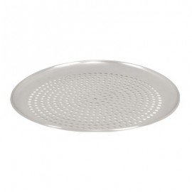 PIZZA PAN - PERFORATED - ALUMINIUM - ROUND