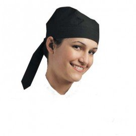 CHEFS UNIFORM - SCULL CAP (TIE AT BACK) BLACK - 1