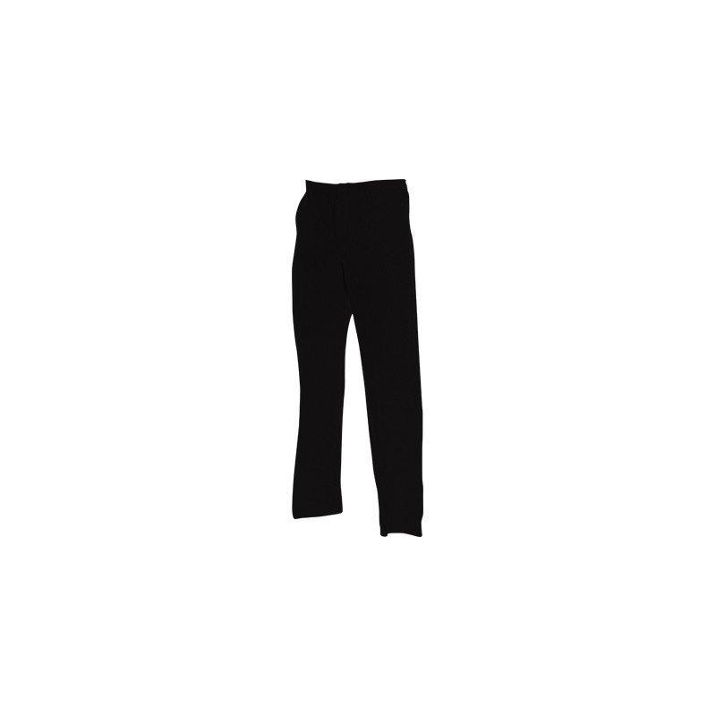 CHEFS UNIFORM - TROUSERS BLACK ZIP- X -SMALL - 1