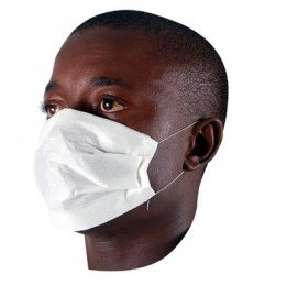 DISPOSABLE PAPER FACE MASK - PACK OF 100
