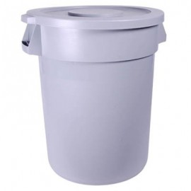 120 LTR CIRCULAR GARBAGE CAN WITH FLAT LID - 560 x 820mm