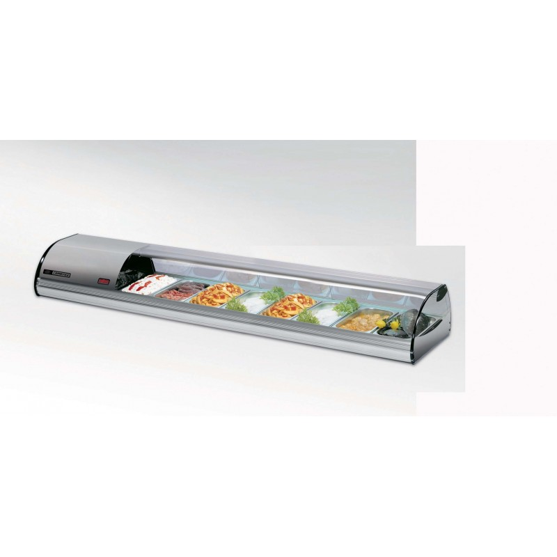 COLD FOOD BAR - COMERSA 8 INSERT - SILVER - 1