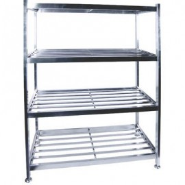 POT RACK S/STEEL - FLOOR STANDING - 1200 x 600 x 1450mm - 1