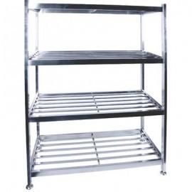 POT RACK S/STEEL - FLOOR STANDING - 1200 x 600 x 1450mm - 1