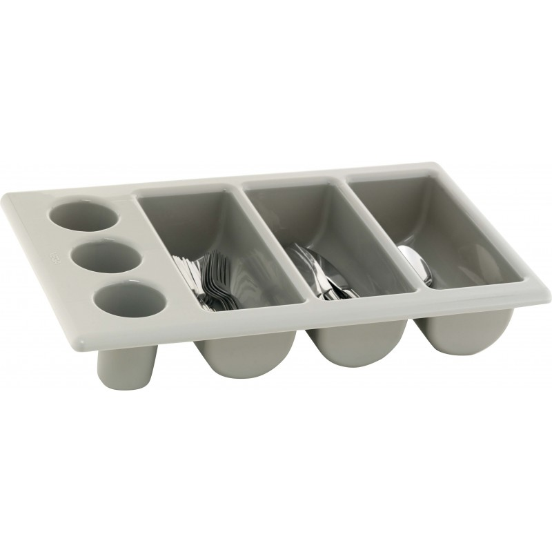CUTLERY TRAY  GREY  3 DIVISION  500 x 300 x 100MM