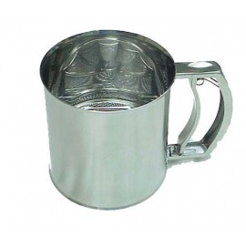 FLOUR SIFTER S/STEEL - 5 CUPS - 1