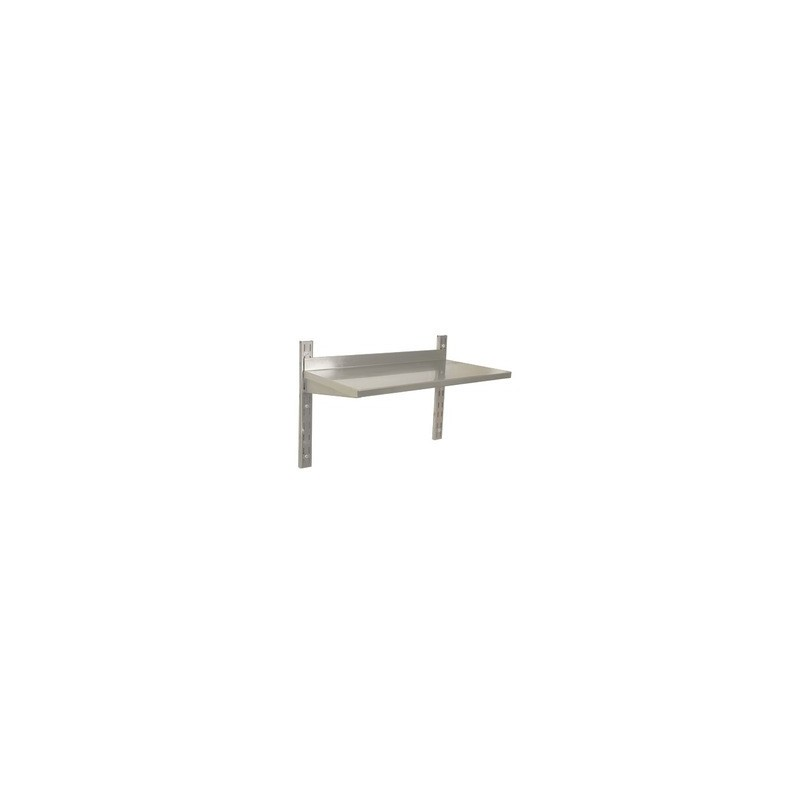 STAINLESS STEEL WALL SHELVING - SINGLE - 600 x 300mm - 1