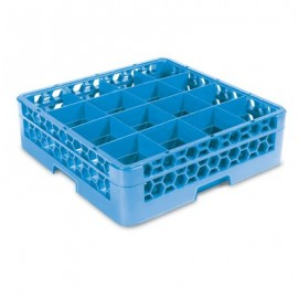 GLASS RACK - 16 COMPARTMENT (BLUE) - RACK ONLY