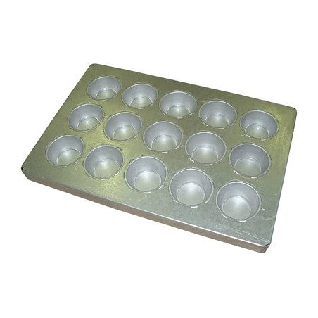 BAKING TRAY ALUSTEEL - LARGE MUFFIN 15 CUP 600 x 400mm - 1