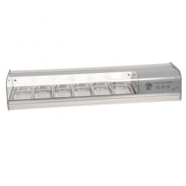 COLD FOOD BAR - COMERSA 6 INSERT - SILVER - 1