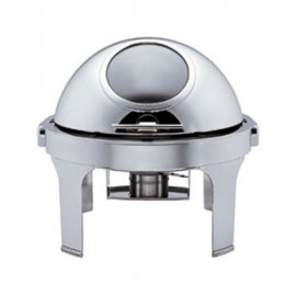 CHAFING DISH ROUND - ROLL TOP WITH WINDOW - 1