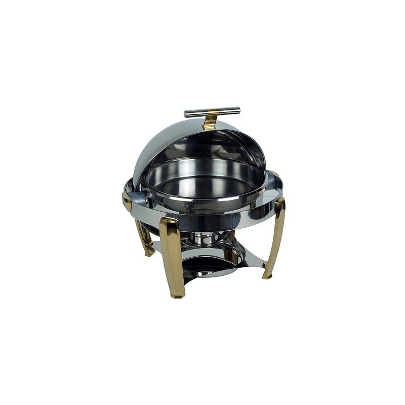 CHAFING DISH HIGH QUALITY POLISHED STAINLESS STEEL ROUND
