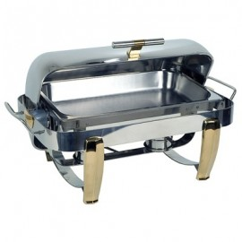 CHAFING DISH HIGH QUALITY POLISHED STAINLESS STEEL RECTANGULAR