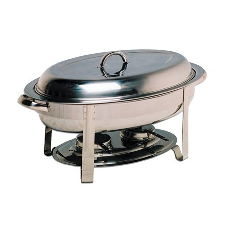 CHAFING DISH OVAL - POLISHED - 1