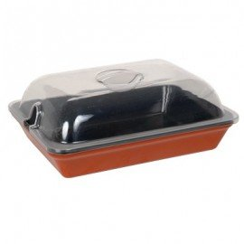 DISPLAY DISH RECTANGULAR  300 x 230mm  TERRA COTTA