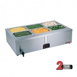 BAIN MARIE ANVIL TABLE TOP - 3 DIVISION - 1