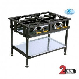 BOILING TABLE GAS - COMMERCIAL - 4 BURNER STAGGERED - 1