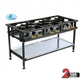 BOILING TABLE GAS - COMMERCIAL - 6 BURNER STAGGERED - 1