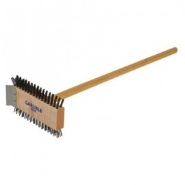 GRILL BRUSH - CARBON STEEL WITH HANDLE - 1