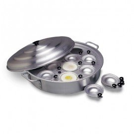 EGG POACHER ALUMINIUM - 12 CUP - 380mm  - 1