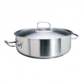 POT STAINLESS STEEL  LOW CASSEROLE