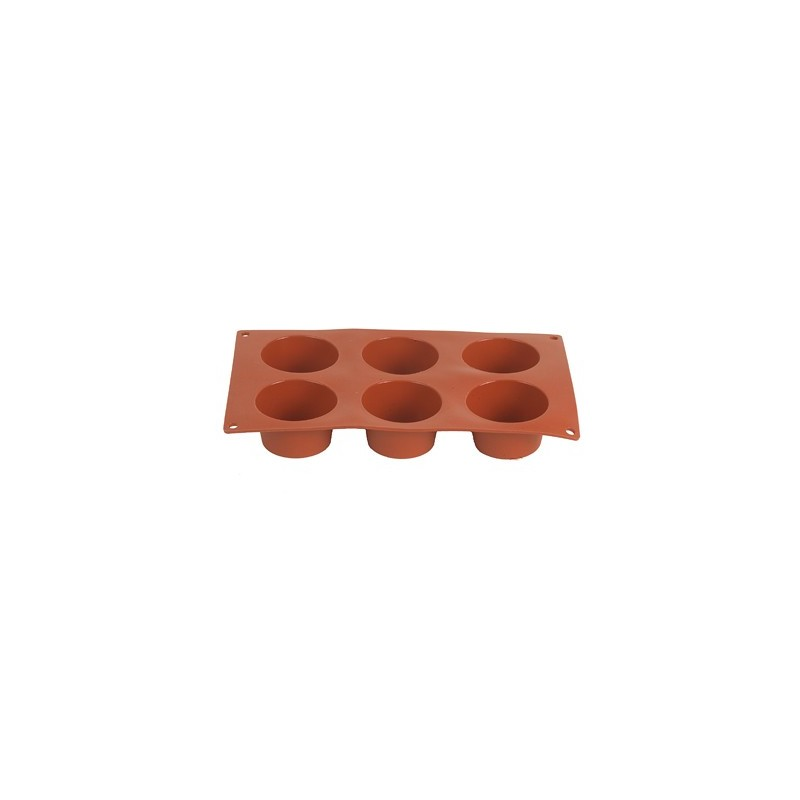 MOULD SILICONE - MUFFIN 6 CUPS - 70 x 40mm - 1
