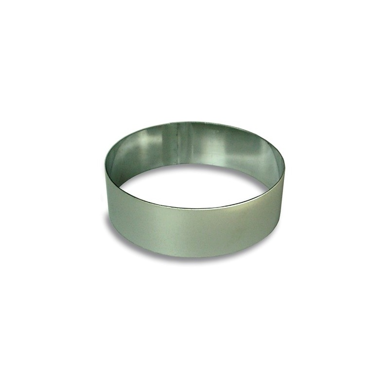 CAKE RING ROUND STAINLESS STEEL