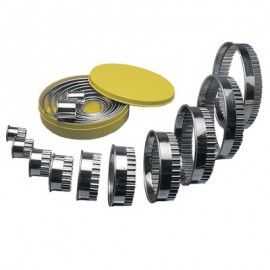 ROUND CUTTER STAINLESS STEEL  PLAIN 10 PIECE
